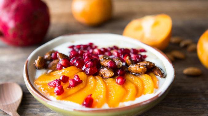 Persischer Milchreis Mit Aprikosen, Mandel Und Granatapfelkernen
